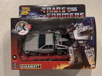 Gigawatt Transformers X Back to the Future Delorean *MINT* 35th Anniversary 2020 Collaboration Autobot Hasbro E8545 for Sale in Lewisville,  TX