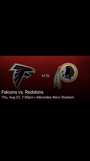 Falcons vs Washington Redskins Tickets for Sale in Decatur, GA