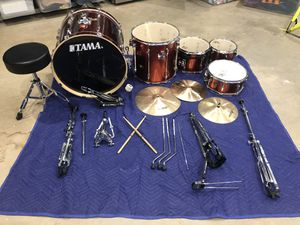 Tama Drum set (red) all prices included for Sale in Marietta, GA