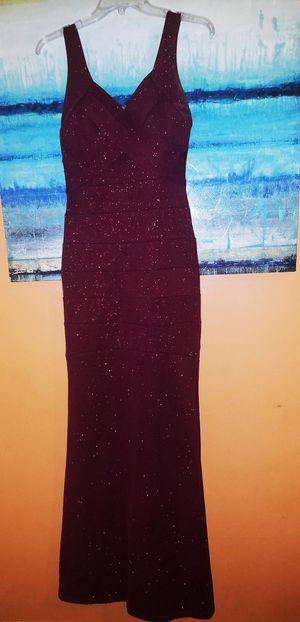 Burgundy shimmer bandage dress for Sale in Philadelphia, PA