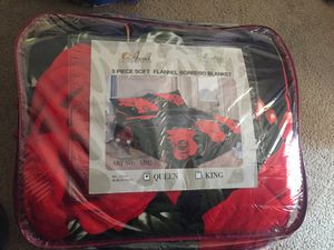3 piece soft flannel borrego blanket for Sale in West Covina, CA