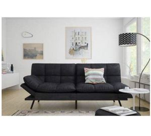 Memory Foam Futon (Black Suede) for Sale in Atwater, CA