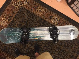 Gnu with Burton Custom bindings for Sale in North Sioux City, SD