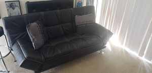 Modern Faux Leather Couch, Convertible Folding for Sale in Lake Forest, CA