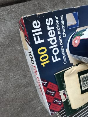 Two new box's of file folders (100 each)$15.00 each or both for $20.00 for Sale in Heber-Overgaard, AZ