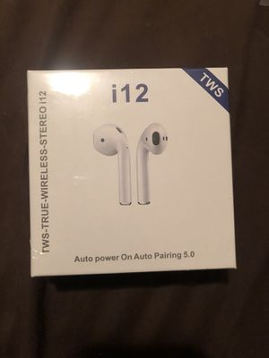 I12 TWS Bluetooth 5.0 Earphones Wireless Headphones Earbuds For IOS / Android for Sale in Houston, TX