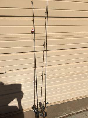 2 FISHING REELS & ROD POLE $40 EACH QUANTUM for Sale in Laveen Village, AZ