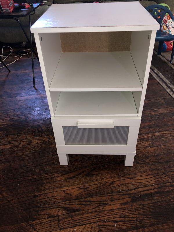 White small shelf