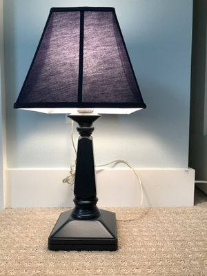 Pottery Barn Kids Table Lamp. - Navy Wood Base w/ Navy Shade for Sale in Rivergrove, OR