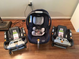 Chicco Keyfit car seat with 2 bases great condition for Sale in Fairfax, VA