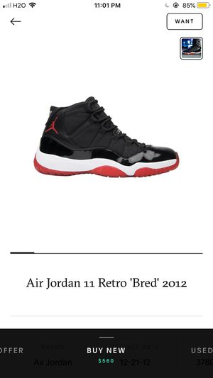 jordan 11 retro 'Bred' size 9 for Sale in West Valley City, UT
