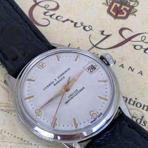 Cuervo Y Sobrinos Habana Unicos Importadores. 32.8mm. Swiss made CS manual wind movement. Collectible watch. Cuervo y Sobrinos guaranty and catalogue. for Sale in Miami, FL