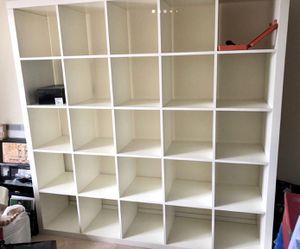 Excellent condition IKEA Kallax 5x5 cube cubby bookcase shelf white color for Sale in Arcadia, CA