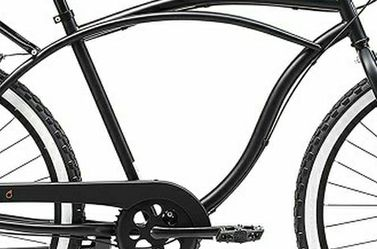 "Sixthreezero Around The Block Men's 7-Speed Beach Cruiser Bicycle, 26"" Wheels, Matte Black with Black Seat and Grips for Sale in Seattle,  WA"