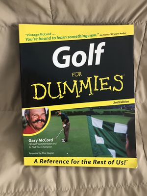 Golf for Dummies Book for Sale in Ashburn, VA