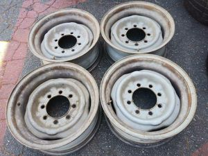 Ford, Dodge, chevy 8 lug classic steel 16 inch wheels for Sale in Montebello, CA