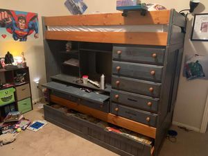 Bunk bed desk combo for Sale in Kyle, TX