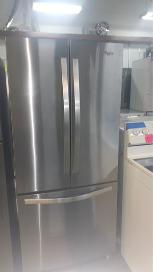 """30"""" French doors stainless steel refrigerator excellent condition for Sale in Elkridge, MD"""