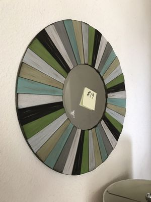 Would mirrored wall art 24 inches around 11 inch mirror for Sale in Fresno, CA