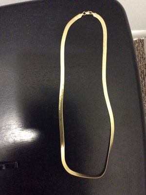 14 k gold herringbone chain for Sale in Columbus, OH