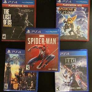 PS4 Games (SpiderMan, Star Wars, and more) for Sale in St. Petersburg, FL