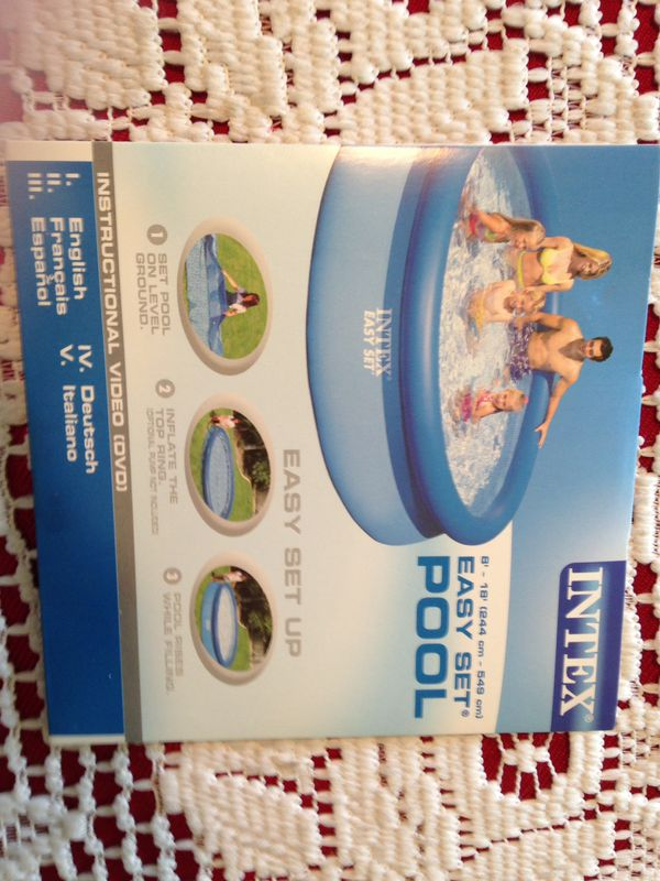 Intex 18 foot pool 2 years old