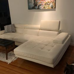 White Leather Couch for Sale in Hollywood,  FL