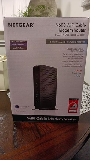 Netgear N600 Modems & Router for Sale in Renton, WA