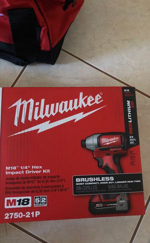 """Milwaukee M18 brushless 1/4"""" impact driver for Sale in Las Vegas, NV"""