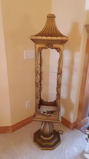 Gold leaf lighted oriental cabinet for Sale in Brooklyn Center, MN