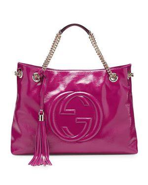 Gucci Soho Patent Leather Shoulder Bag, Fuchsia for Sale in Phoenix, AZ