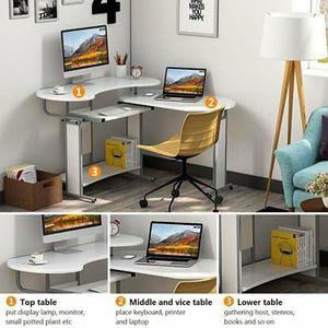 SHIPPING ONLY Rotating Adjustable L-Shape Desk Modern Black for Sale in Las Vegas, NV