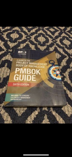 PMBOK PMP Exam Guide, 6th Edition (Latest) - Like New for Sale in Arlington, VA