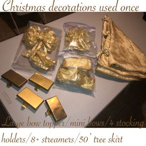 Gently used beautiful gold Christmas decoration $50 firm pick up or meet for Sale in Laveen Village, AZ