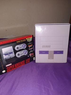 Super Nintendo classic edition + culturefly collector's box for Sale in Denver, CO