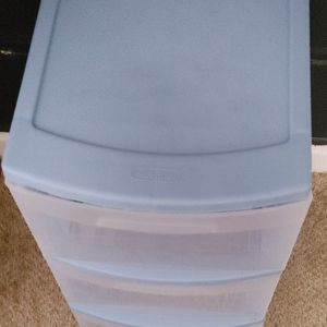 clear/blue drawers for Sale in Raleigh, NC