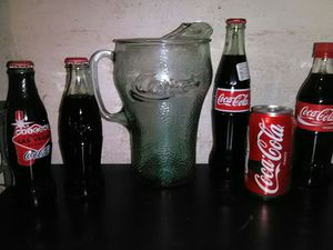 Coca-Cola lot collectible glass pitcher and sealed bottles for Sale in Alpharetta, GA