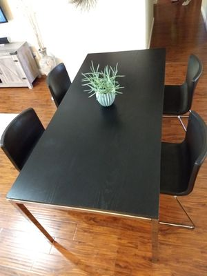 IKEA Dining/Kitchen Table & Chairs Set* Torsby Table/ 4 Bernhard Leather Chairs Espresso Dark Brown for Sale in Phoenix, AZ