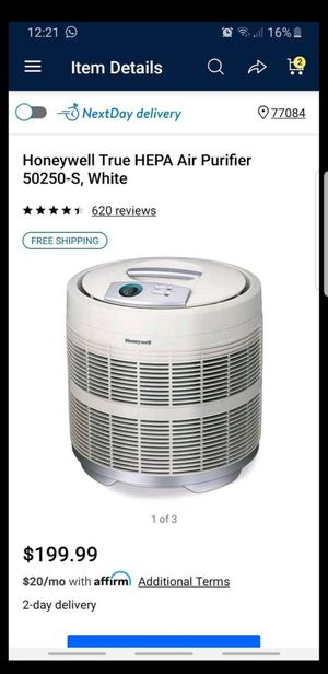 Honeywell True HEPA Air Purifier 50250-S, White for Sale in Houston, TX