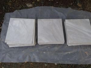 Marble Tiles - 30 white polished marble tiles for Sale in Walnut Creek, CA