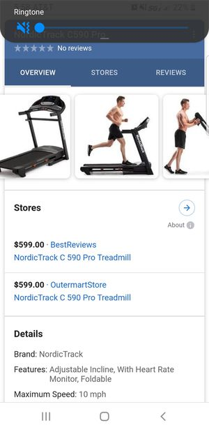 Almost Brand New Treadmill Only Uses 5 Times for Sale in Pooler, GA
