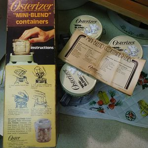 Vintage kitchen mini blender container storage set Oster Osterizer for Sale in Davie, FL