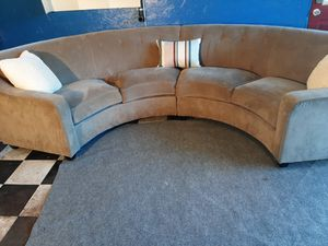Beautiful gray curved sectional couch for Sale in Renton, WA