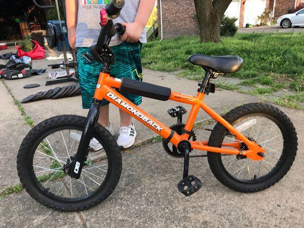 Orange diamondback mini viper bicycle
