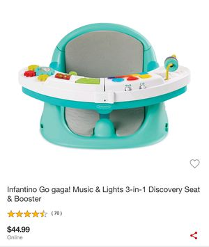 Infantino go gaga musical discovery seat & booster for Sale in San Jose, CA