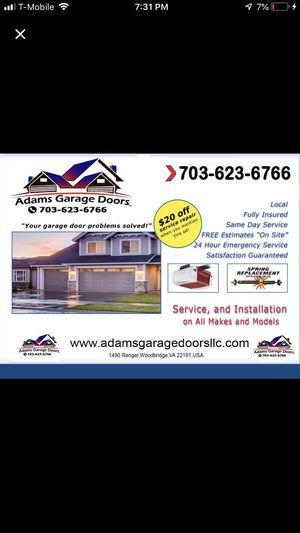 Garage doors installation& garage doors spring replacement& garage openers Instaltion for Sale in Woodbridge, VA