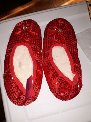 Halloween red slippers wear when tired of heels medium size 7 to 8 for Sale in San Antonio, TX