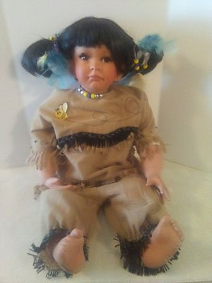 Large Porcelain Indian Doll for Sale in Grove City, OH