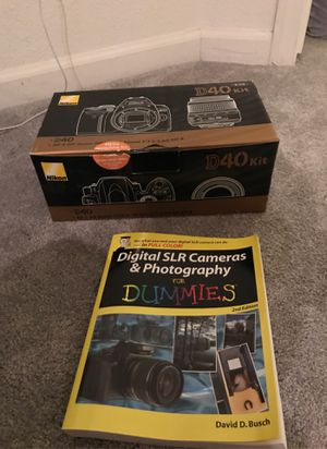 Nikon D40 SLR camera and kit for Sale in San Leandro, CA