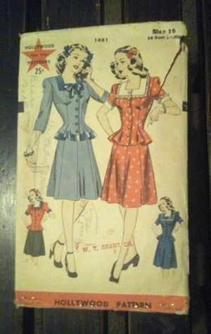 1940's Vintage Dress pattern- Rare for Sale in Jackson, MS